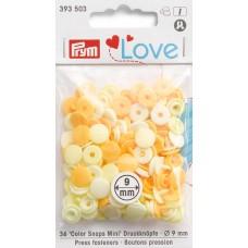Серия Prym Love - Набор кнопок Color Snaps Mini, диаметр 9мм, Prym, 393503
