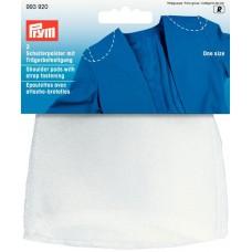 Накладки плечевые реглан с липучкой под бретель, без размера, 115*125*10мм, белый, 100%полиам 993920