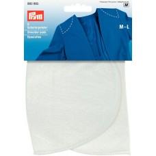 Накладки плечевые полумесяц, размерM-L, 160*115*15мм, белый, 100%полиамид, 2шт на блистере 993865