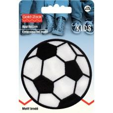 Термоаппликация Фубольный мяч, диаметр 73мм, большая 925274