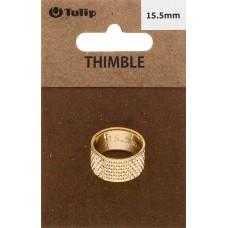 Наперсток Кольцо, диаметр 15,5мм, сталь, золотистый, Tulip, SN-003e