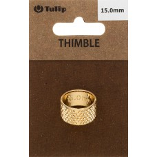 Наперсток Кольцо, диаметр 15мм, сталь, золотистый, Tulip, SN-002e