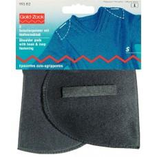 Накладки плечевые полумесяц с липучкой, размерS, 125*100*12, черный, 100%полиамид, 2шт на бл 993812
