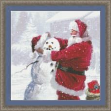 Набор для вышивания Санта и снеговик
