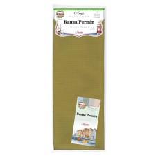 Канва в упаковке Aida 14 ct, 5,4 клетки на 1 см, цвет 242 оливковый, 130 х 100 см