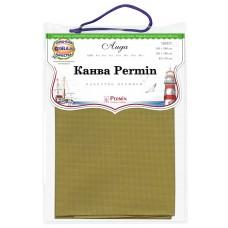 Канва в упаковке Aida 14 ct, 5,4 клетки на 1 см, цвет 242 оливковый, 65 х 50 см