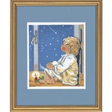 Набор для вышивания Мальчик и звезды, лён 26 ct