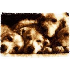 Коврик Спящие собачки набор ковровой техники
