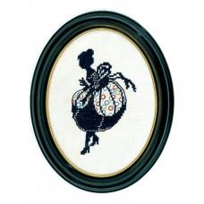 Набор для вышивания Дама (силуэт), лён 26 ct