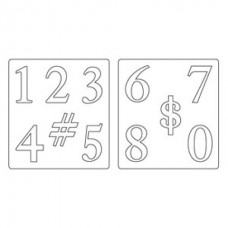 Нож для вырубки Sizzix® Bigz™ Die - Serif Essentials Numbers