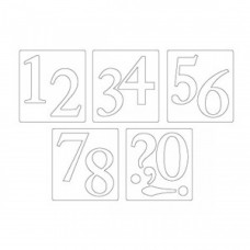Нож для вырубки Sizzix® Bigz™ Die - Sassy Serif Numbers