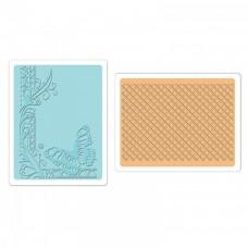 Набор папок для эмбоссирования Texture Fades - Butterfly Lattice Set