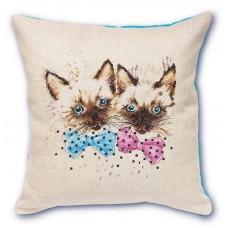 Набор для вышивания, подушка Сиамские котята, Luca-S