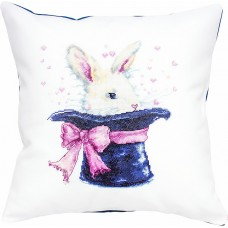 Набор для вышивания, подушка Кролик в шляпе, Luca-S
