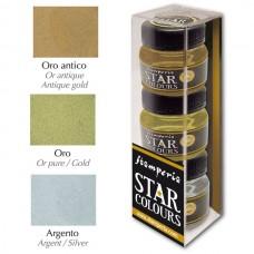 Набор акриловых красок металлик Star colours