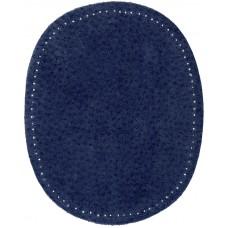 Заплатки пришивные HKM искусственная кожа, цвет джинс индиго, 2 шт