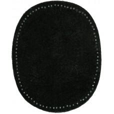 Заплатки пришивные HKM искусственная кожа, цвет черный, 2 шт