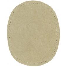 Заплатки пришивные HKM искусственная кожа, цвет бежевый, 2 шт