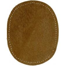 Заплатки пришивные HKM искусственная кожа, цвет табачный, 2 шт