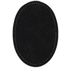 Заплатки термоклеевые искусственная замша HKM, черные, 2 шт