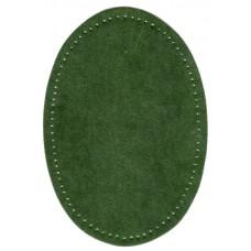 Заплатки термоклеевые искусственная замша HKM, цвет холодно-зеленый, 2 шт