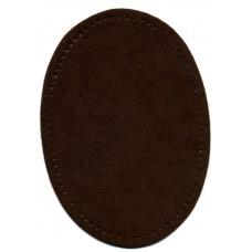 Заплатки термоклеевые искусственная замша HKM, цвет темно-коричневый, 2 шт