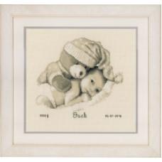 Набор для вышивания Малыш с плюшевым мишкой