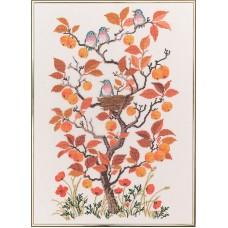Набор для вышивания Осень, лён 26 ct