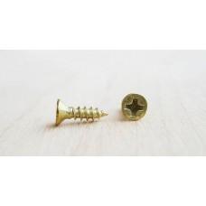 Шурупы для крепежа декоративных элементов, золото