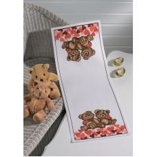 Дорожка Мишки с сердечками набор для вышивания