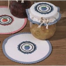 Салфетка Ежевика набор для вышивания, набор из 2 шт.