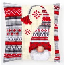 Подушка Рождественский эльф набор для вышивания