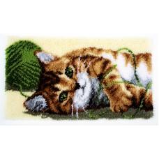 Коврик Играющий котенок набор ковровой техники