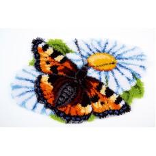 Коврик Бабочка на ромашке набор ковровой техники