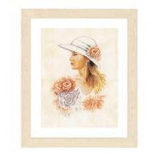 Набор для вышивания Lady with hat  LANARTE