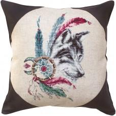 Набор для вышивания, подушка Волк, Luca-S