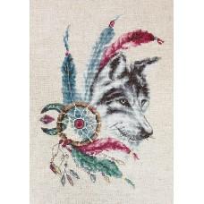Набор для вышивания Волк, Luca-S