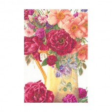 Набор для вышивания Букет роз, канва лен 36 ct