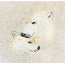 Набор для вышивания Белые медведи, Luca-S