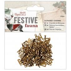 Набор декоративных элементов Aлфавит Festive Fauna