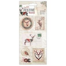 Набор стикеров 3D Festive Fauna