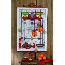 Набор для вышивания, Гном у окна, календарь