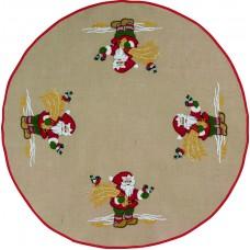 Коврик под ёлку Санта с птичками, набор для вышивания