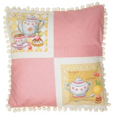 Набор для вышивания Чайная (может использоваться для создания подушки)