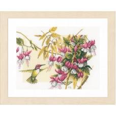Набор для вышивания Colibri & flowers LANARTE