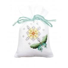 Мешочки для вышивания (саше), набор из 3 шт Бабочки