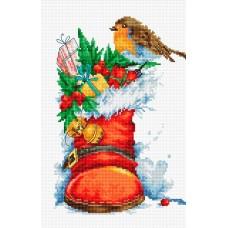 Набор для вышивания Рождественский сапожок, Luca-S