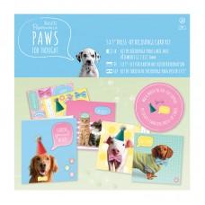 Набор для создания открыток Paws for Thought, 4 дизайна открыток