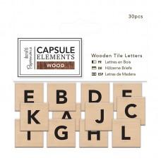 Набор букв Elements Wood на основе из дерева, 30 шт