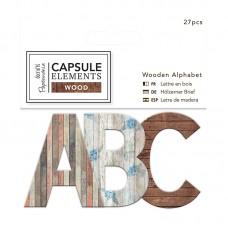 Набор букв Elements Wood на основе из дерева, 27 шт